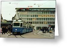 Paradeplatz Zurich Greeting Card