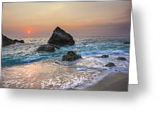 Paradise Beach Sunset Greeting Card