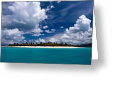 Paradise Is Sandy Cay Greeting Card by Adam Romanowicz