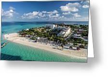 Paradise - Isla Mujeres - Playa Norte, Aerial Image Greeting Card