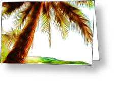 Paradise Palm Greeting Card