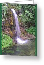 Waterfall In Spring Paradise Cove Winslow Illinois Greeting Card
