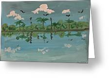 Paradise Reflection Greeting Card
