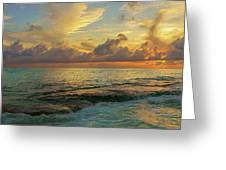 Paradise Sunset Greeting Card