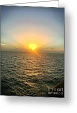 Paradise Sunset Oasis Greeting Card