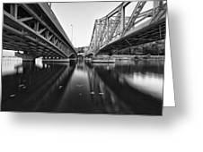 Parallel Bridge Greeting Card