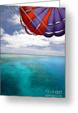 Parasail Over Fiji Greeting Card