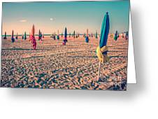 Parasols Of Deauville Greeting Card