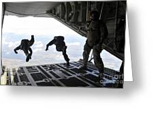 Paratroopers With The Spanish Military Greeting Card