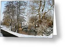 Walk In A Snowy Park Greeting Card