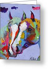 Pardners Greeting Card by Tracy Miller