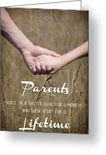 Parents For A Lifetime Greeting Card