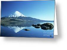 Parinacota Volcano Reflections Chile Greeting Card