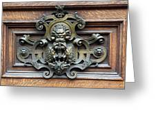 Paris - 19th Century Brass Door Knocker Greeting Card