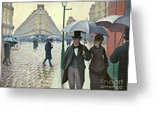 Paris A Rainy Day - Gustave Caillebotte Greeting Card