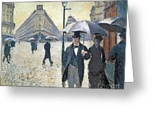 Paris A Rainy Day Greeting Card