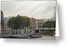Paris Across The Seine Greeting Card