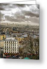 Paris As Seen From The Sacre-coeur Greeting Card