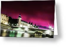Paris At Night 18 Art Greeting Card