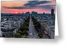 Paris, Avenue De La Grande Armee Greeting Card