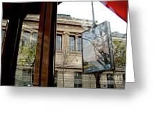 Paris Cafe Views Reflections Greeting Card