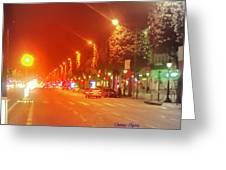 Paris Champs-elysees Greeting Card