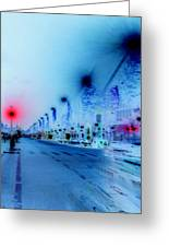 Paris Champs-elysees Neon Lights Greeting Card
