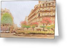 Paris, City Of Lovers Greeting Card