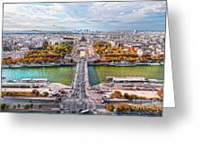 Paris City View 19 Art Greeting Card