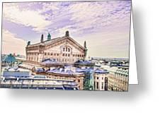 Paris City View 22 Art Greeting Card