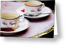 Paris Coffee Cups Greeting Card