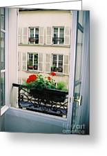 Paris Day Windowbox Greeting Card