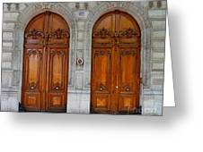 Paris Doors Greeting Card