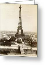 Paris: Eiffel Tower, 1900 Greeting Card