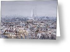 Paris Et Sa Dame De Fer Greeting Card