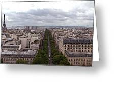 Paris From The Arch De Triumph Greeting Card