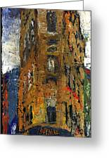 Paris Hotel 7 Avenue Greeting Card