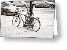 Paris In Snow Greeting Card