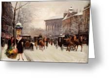 Paris In Winter Greeting Card