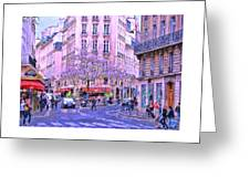 Paris Intersection Greeting Card