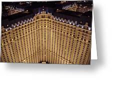 Paris Lights-las Vegas Greeting Card