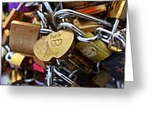 Paris Love Locks Paris France Color Greeting Card