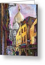 Paris Montmartre 2 Greeting Card by Yuriy  Shevchuk
