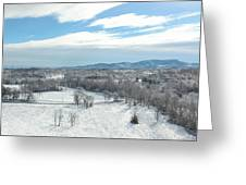 Paris Mountain Snow Greeting Card