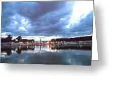 Paris Night Sky Greeting Card by Milan Mirkovic