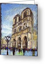 Paris Notre-dame De Paris Greeting Card