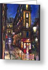 Paris Old Street Greeting Card