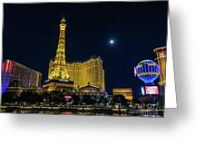 Paris On The Strip Greeting Card