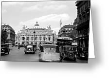 Paris Opera 1935 Greeting Card