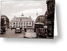 Paris Opera 1935 Sepia Greeting Card